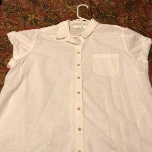 Riders by Lee 1x white button down blouse.